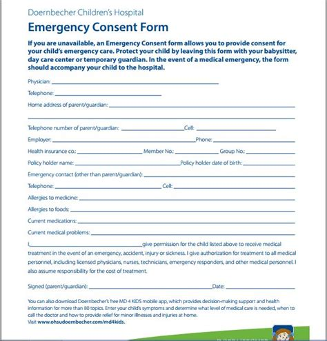 child care medication authorization form sle medical consent form printable medical forms