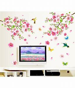 Stickerskart flowers trees pvc wall stickers buy