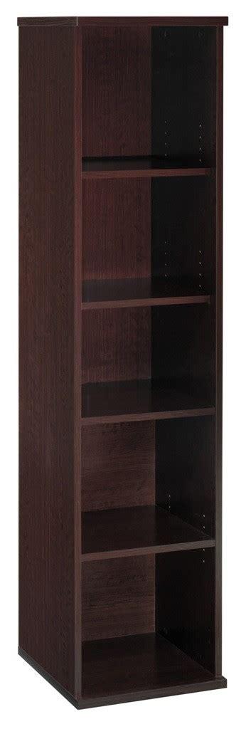 18 Inch Bookcase by Series C Mocha Cherry 18 Inch 5 Shelf Bookcase From Bush