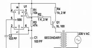 Loadedcircuit Com  12 Volt To 230 Volt Inverter Circuit Diagram Using Ic 555 Description