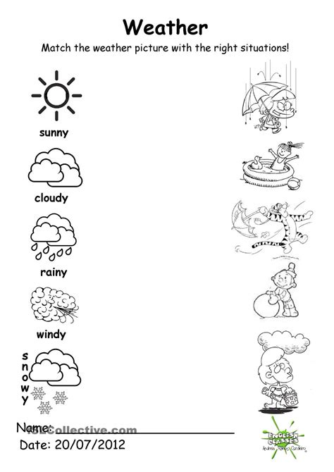 preschool weather worksheet worksheets for all