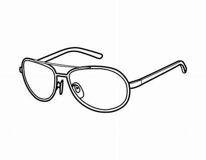Coloring Template Glasses Sunglasses Colouring Pages Goggles