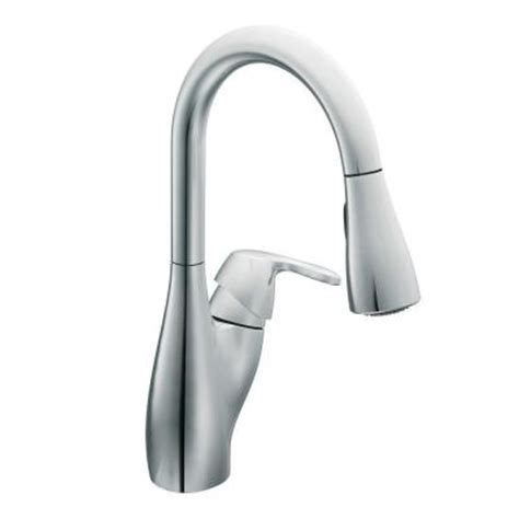 discontinued moen kitchen faucets moen single handle pull down sprayer kitchen faucet in chrome discontinued ca7599c the home depot