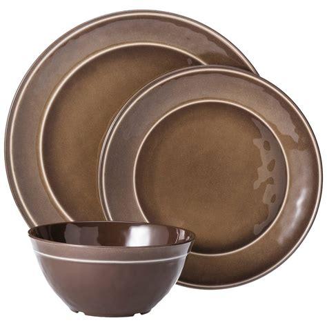 melamine dinnerware sets melamine 12pc dinnerware set threshold ebay