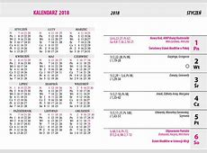 Kalendarz 2018 2019 2018 Calendar Printable with