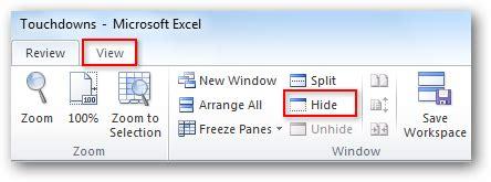 hide  unhide worksheets  workbooks  excel