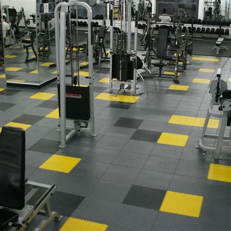 Gym Weight Room Polypropylene Flooring   Hongewin Tiles