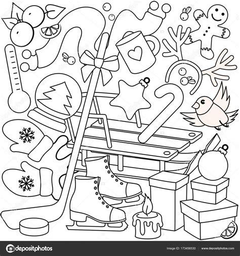 Kleurplaat Winter by Winter Kleurplaten Voor Kinderen Stockvector 169 Huhabra