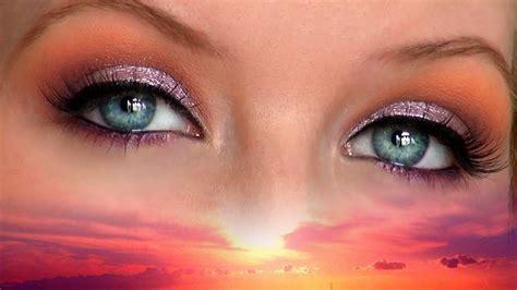 purple orange sunset eyes tutorial  haul video youtube