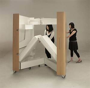 Space saving furniture compact kitchen guest room and office for Fold away sofa bed
