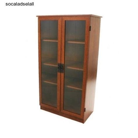 cherry bookcase with glass doors bookcase with glass doors storage cabinet cherry vintage