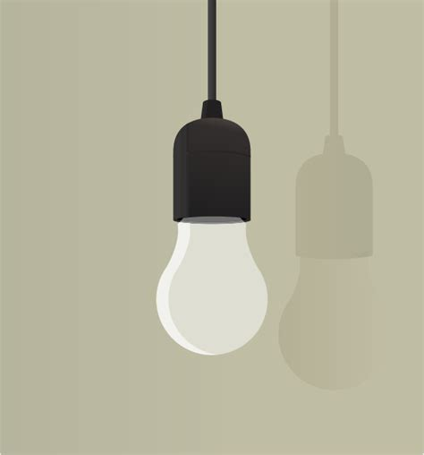 clipart lightbulb hanging from ceiling