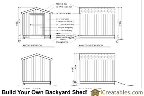 8x10 shed plans storage shed build a shed