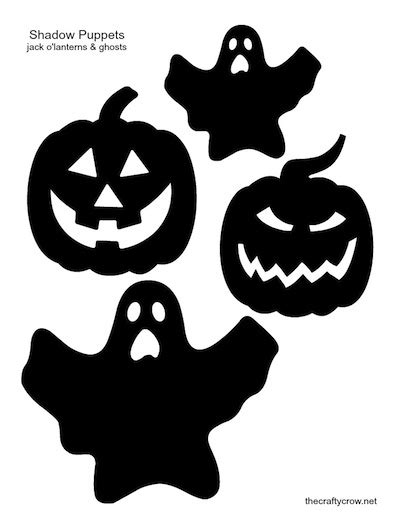 shadow puppet printables things to make and