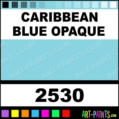 caribbean blue opaque delta acrylic paints 2530