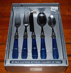 Hampton Forge Argent Sophium 20 Piece Cobalt Blue Good Ideas Blue Flatware