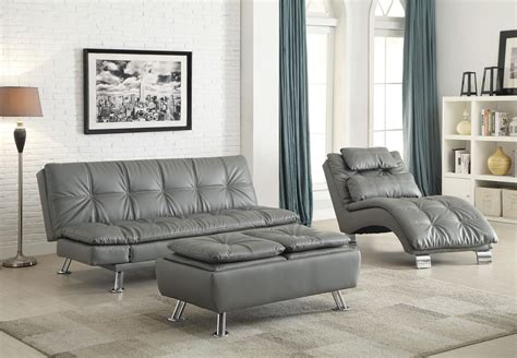 Living Room With Futon by Dilleston Futon Style Living Room Set From Coaster 500096