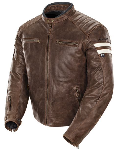 mens leather riding jacket joe rocket men 39 s classic 92 brown cream leather street