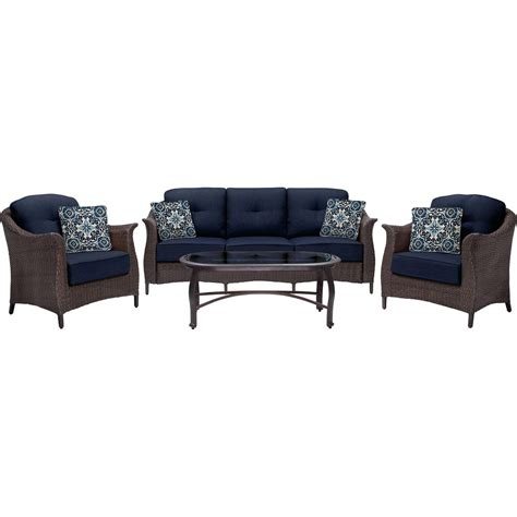 gramercy 4 seating set in navy blue gramercy4pc nvy
