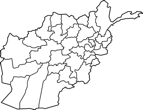 afghanistan map  province
