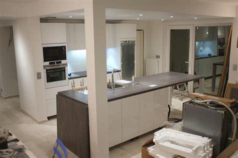 fabrication d un ilot central de cuisine construire ilot central cuisine meuble ilot central