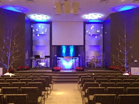 woven  snow church stage design ideas