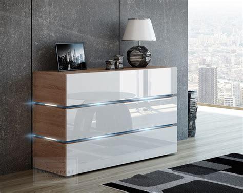 Sideboard Eiche Modern by Kaufexpert Kommode Shine Sideboard 120 Cm Wei 223 Hochglanz