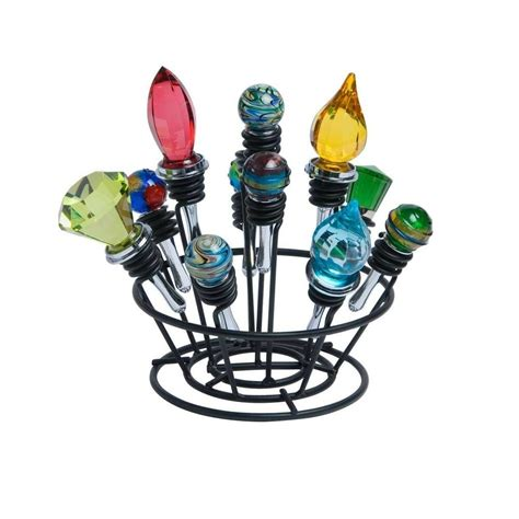 wine bottle stopper holder bouquet display rack stand unit  stoppers corkers ebay