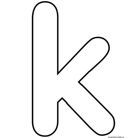 Letter K Coloring Pages For Preschoolers  Letter K