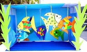 Basteln Mit Grundschulkindern : aquarium aus karton und tonpapier tiere basteln meine enkel und ich made with schwedesign ~ Orissabook.com Haus und Dekorationen