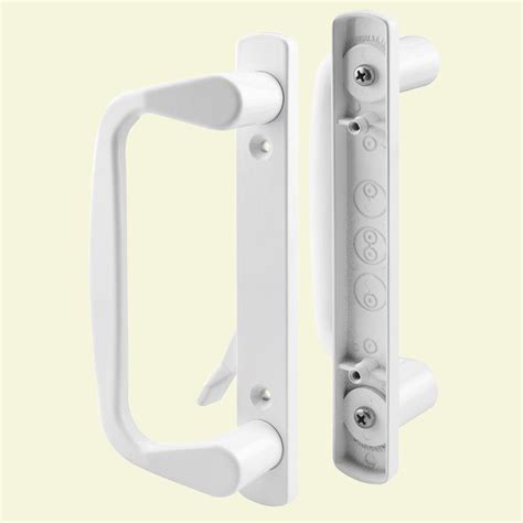 ideal security deluxe white door handle set with