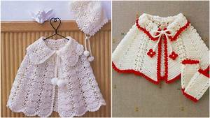 2 X Baby Cape Crochet Diagrams Free