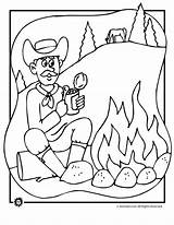 Coloring Campfire Cowboy Animal Pages Jr Designlooter 880px 5kb Drawings Popular sketch template