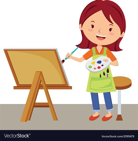 artists clipart artist painting royalty free vector image