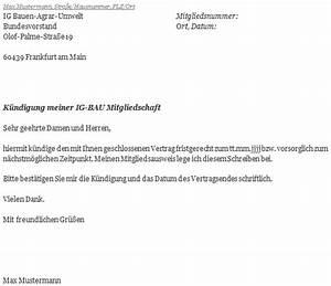 Kündigungsfrist Wohnung Beispiel : ig bau k ndigungsschreiben erstellen ~ Lizthompson.info Haus und Dekorationen