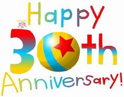 Anniversary 30th Happy Years Pixar Emeraldia Clipart