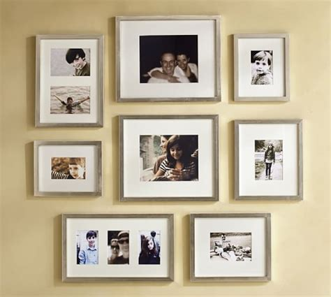 pottery barn gallery in a box gallery in a box chagne finish frames pottery barn