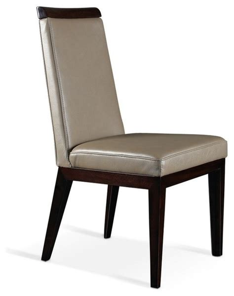 bhn31 modern light brown top grain leather dining chair