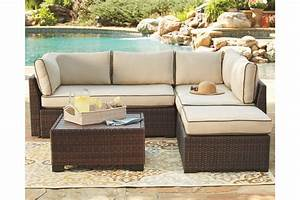 Loughran 4 Piece Outdoor Sectional Set By Ashley Furniture