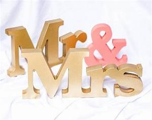 wedding signs mr and mrs signs mr and mrs letters for With mr mrs block letters
