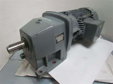 Electric Motor Reducer by Nord Sk 100 L 40 4 Hp 3 Kw Electric Gear Drive Motor W