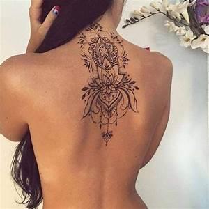 Tatouage De Femme : tatouage de femme tatouage fleur de lotus noir et gris ~ Melissatoandfro.com Idées de Décoration