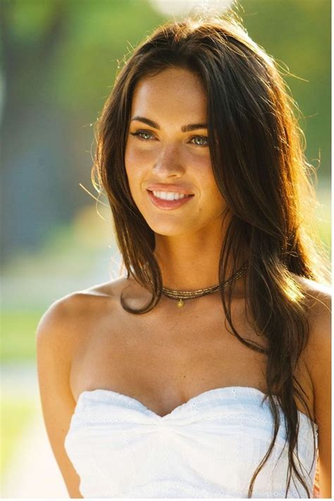 Actress Megan Fox Photos With Her Long Wavy Hairstyle With
