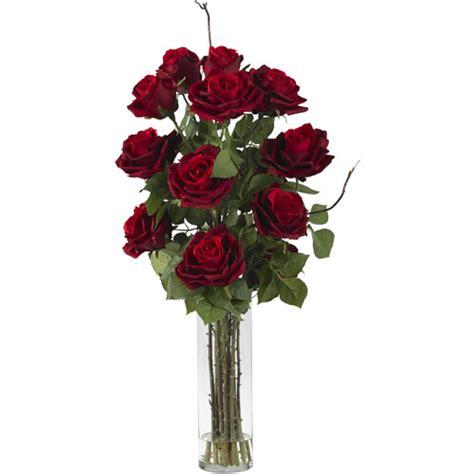 walmart flower vases roses with cylinder vase silk flower arrangement