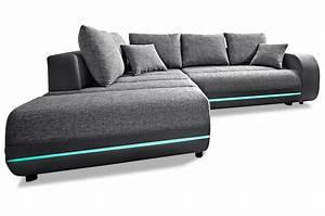 Sofa Mit Led Und Sound : ecksofa xl trento mit led und sound und schlaffunktion anthrazit sofas zum halben preis ~ Indierocktalk.com Haus und Dekorationen