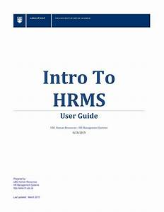 Introduction To Hrms Training Manual