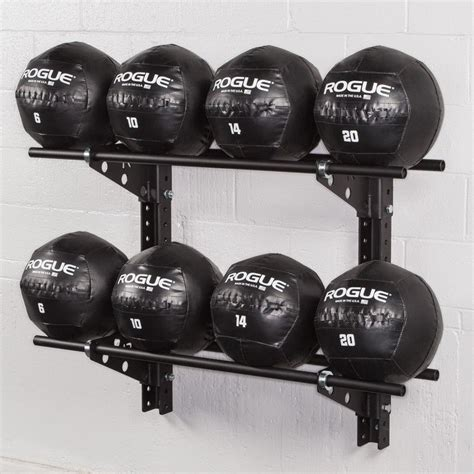 rogue gym brackets wall swiss ball rack medicine mount fitness workout simple way roguefitness storage offer mounted plate bar garage