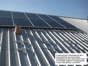 Dach Trapezblech Verlegung : solaranlage auf trapezblech dach ~ Whattoseeinmadrid.com Haus und Dekorationen