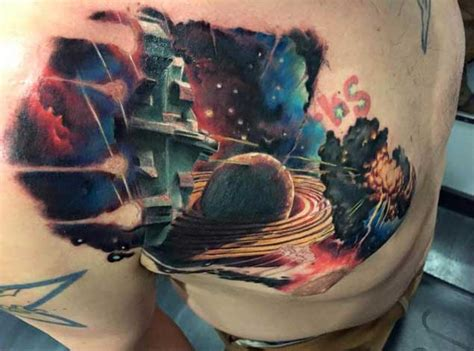 earth shattering space tattoos   literally