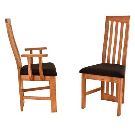 Modern High Back Dining Chairs Natural Cherry Handmade